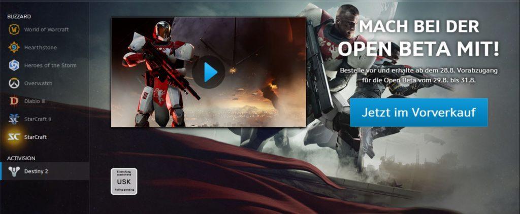 Destiny 2 Beta Vorverkauf