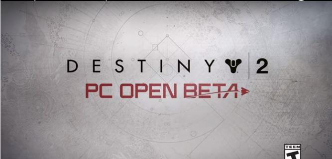 Destiny 2 Open Beta