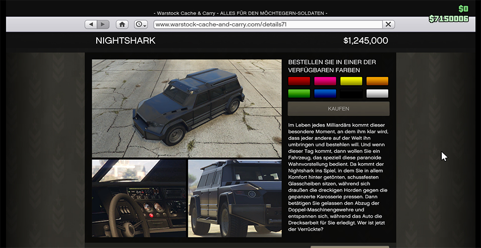GTA 5 Nightshark im Shop