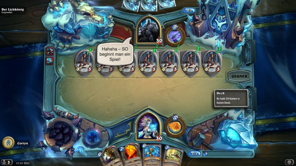 Hearthstone Frozen Throne Prolog 1