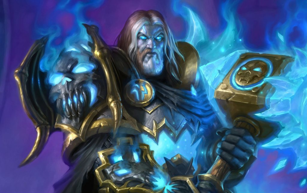 Hearthstone Uther of the Ebon Blade Art