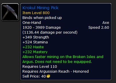 Krokul Mining Pick World of Warcraft