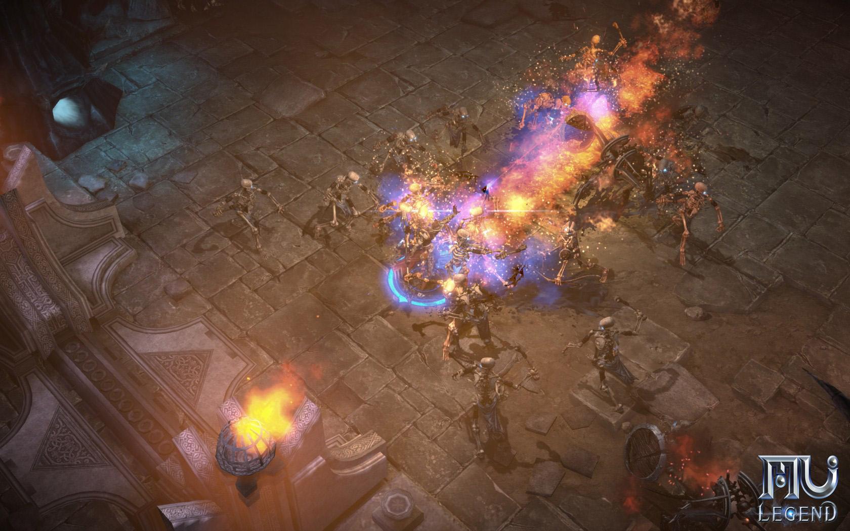 MU Legend Screenshot Gegner AOE-Schaden