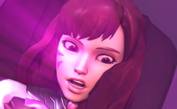 Overwatch Dva shocked