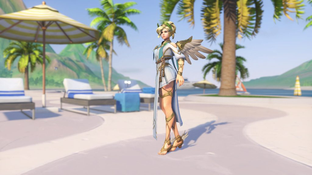 Overwatch Summer Games Mercy Winged Victory Legendary