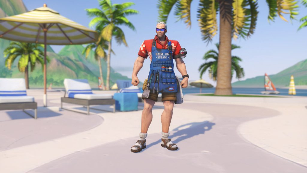 Overwatch Summer Games Soldier76 Grillmaster 76 legendary