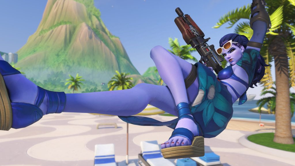 Overwatch Widowmaker Swinging into action Summer Skin