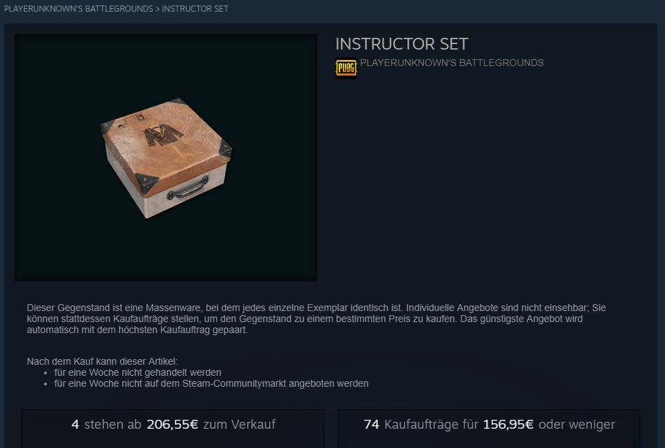 PUBG Instructor-Set Steam