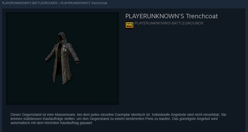 PUBG Trenchcoat Steam