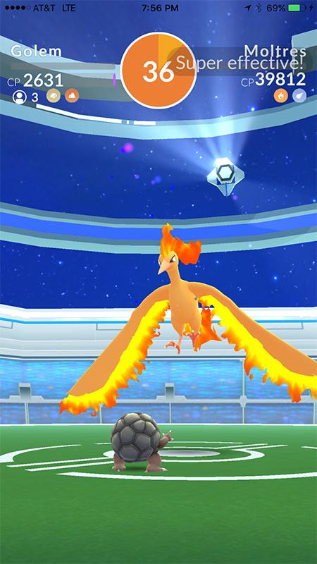 Pokémon GO Lavados Sieg drei Trainer
