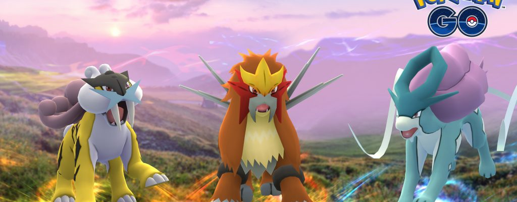 Ab heute: Legendäre Bestien Suicune, Entei und Raikou in Pokémon GO