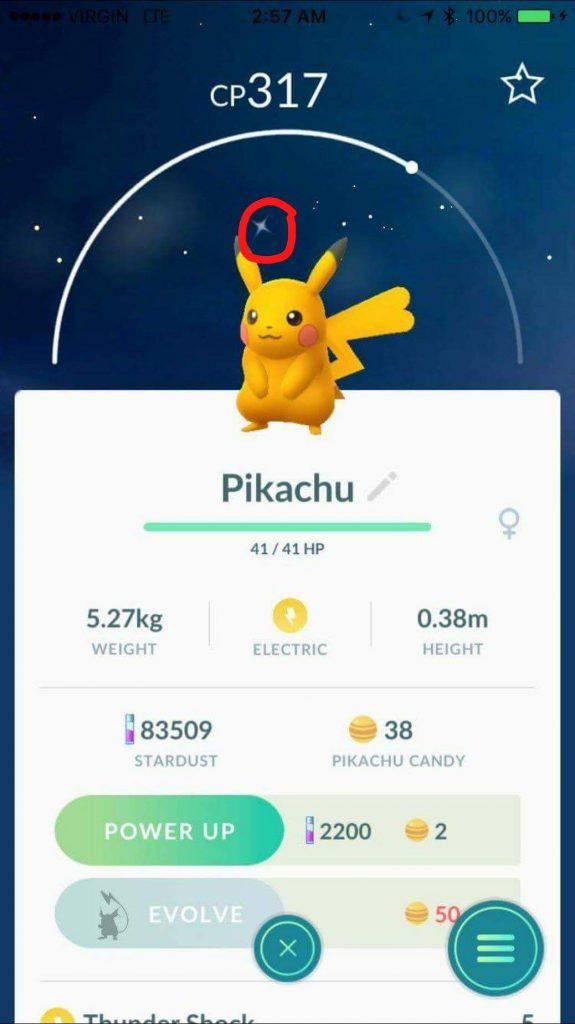 Pokémon GO Pikachu Shiny Kanada