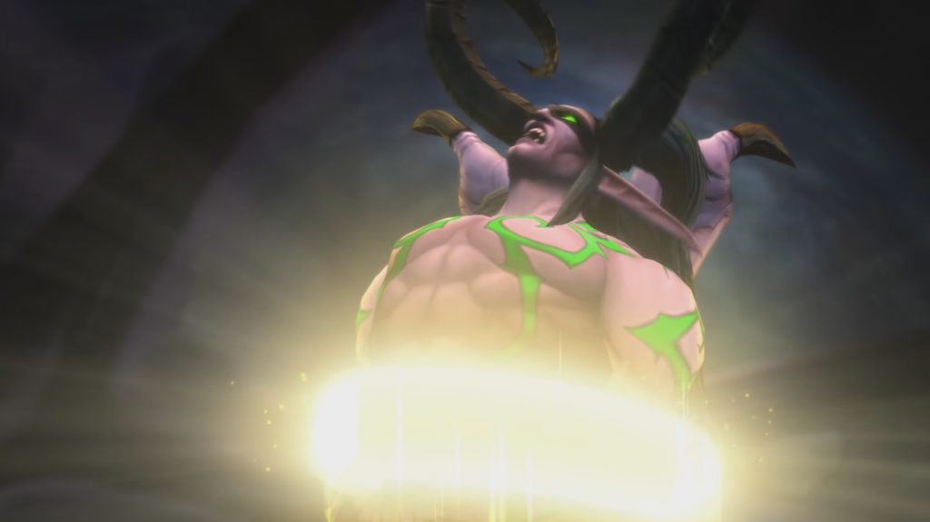 WoW Illidan forced by the light