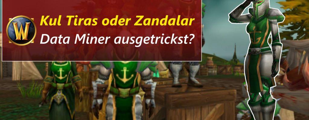 Nächstes WoW-Addon: Kul Tiras oder Zandalar? Verwirrte Dataminer