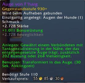 World of Warcraft Antorus Auge von F'harg