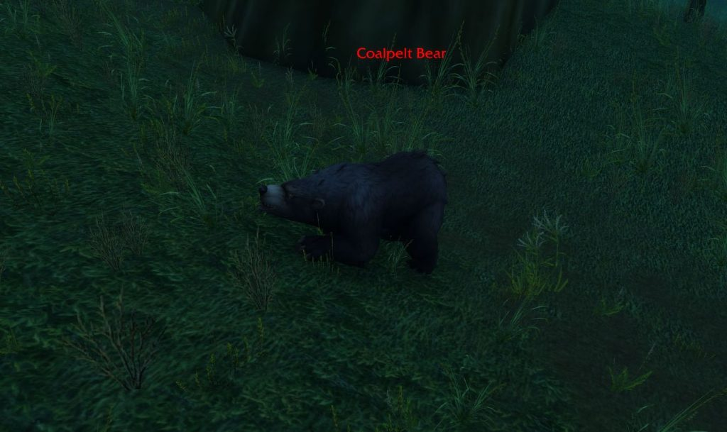 Worl dof Warcraft Bär im Dämmerwald