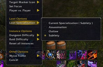 World of Warcraft Legendary Guide Loot Spec