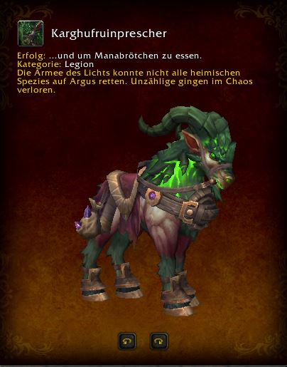 World of Warcraft PTR Patch 7 3 Beakhoof Ruinstrider Mount