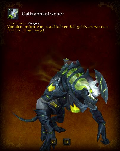World of Warcraft PTR Patch 7 3 Gallzahnknirscher