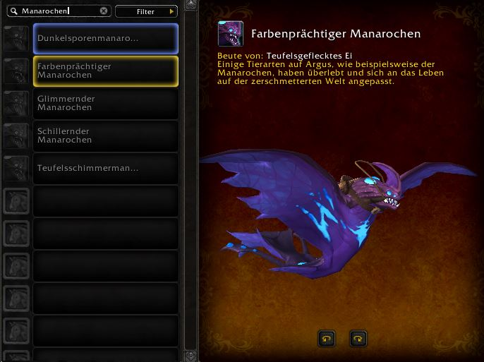 World of Warcraft PTR Patch 7 3 Manaray Manarochen Mount