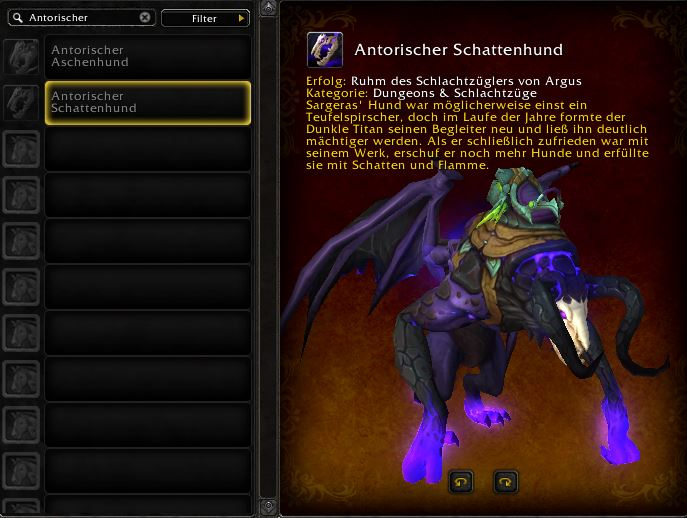 World of Warcraft PTR Patch 7 3 Schattenhunde