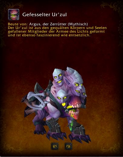 World of Warcraft PTR Patch 7 3 Urzul Mount