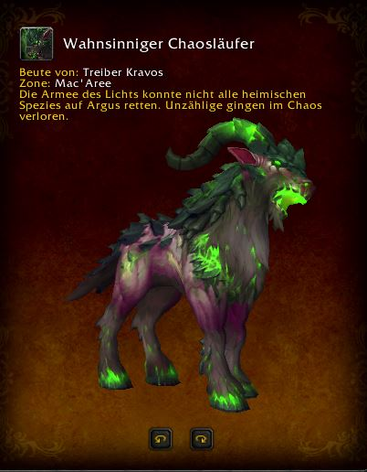 World of Warcraft PTR Patch 7 3 Wahnsinniger Chaosläufer