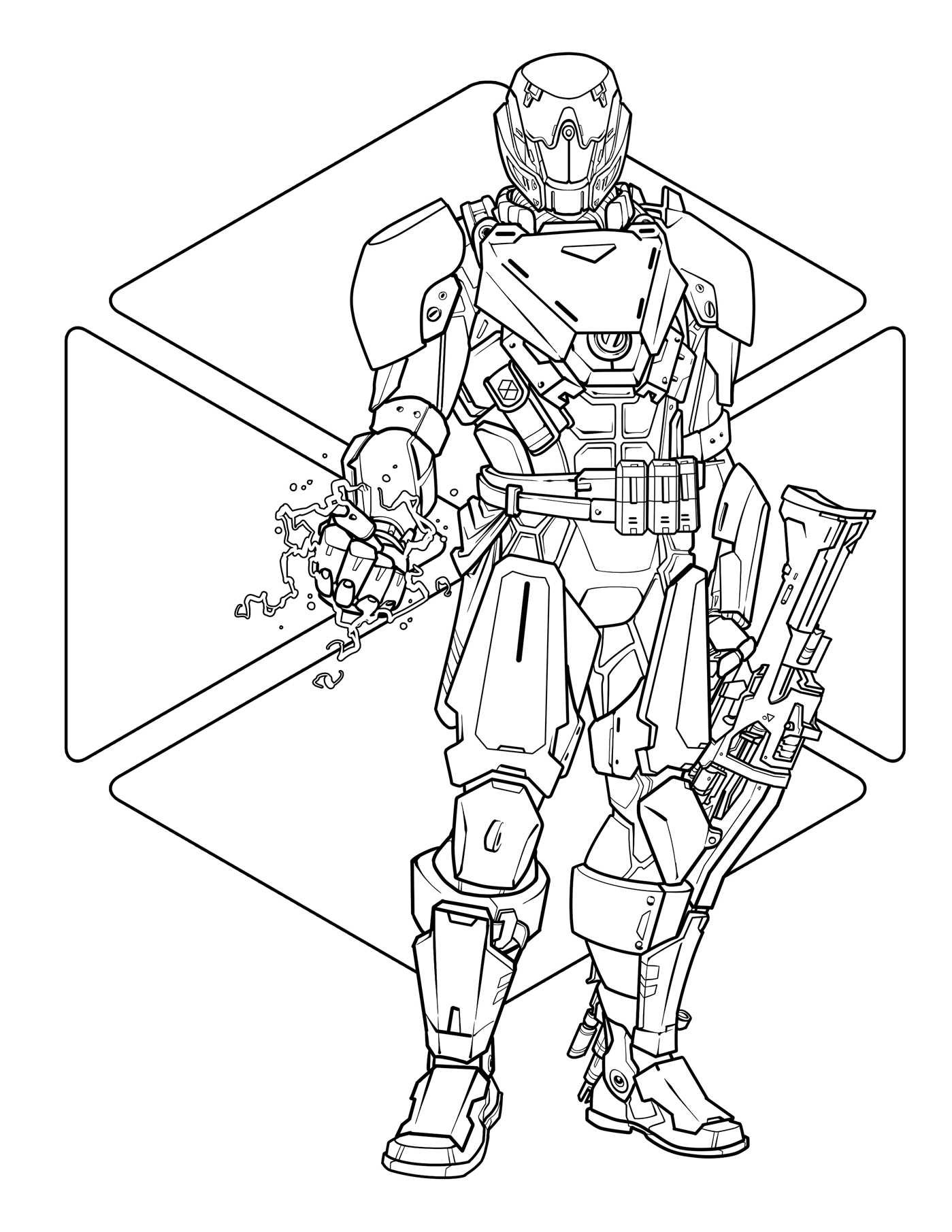 destiny characters hunter coloring pages - photo#14