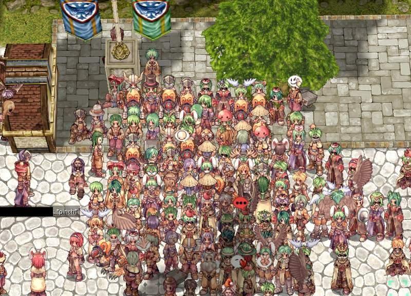 Eine belebte Hauptstadt in Ragnarok Online