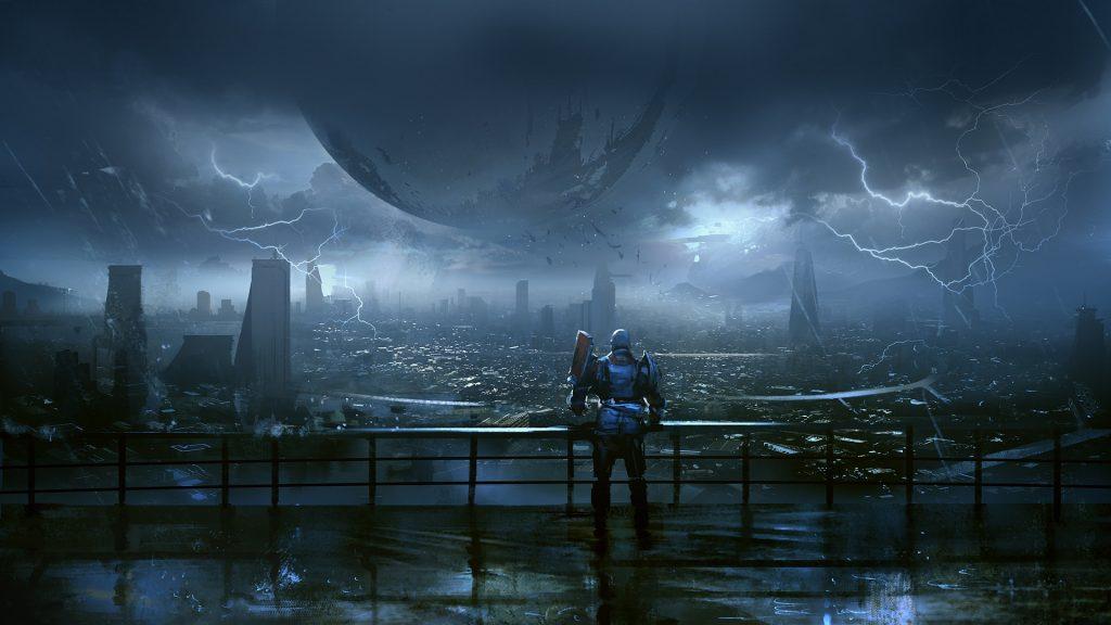 Destiny 2 4k hd wallpaper Last city rain 1024x576