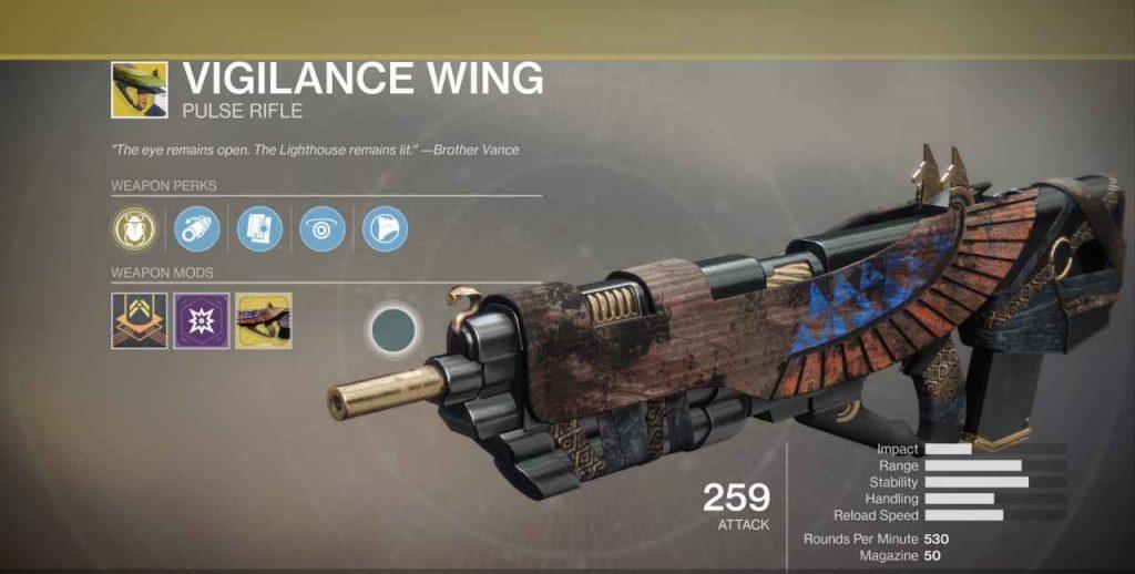 Destiny 2 Schwingen der Wachsamkeit Waffe- Vigilance Wing