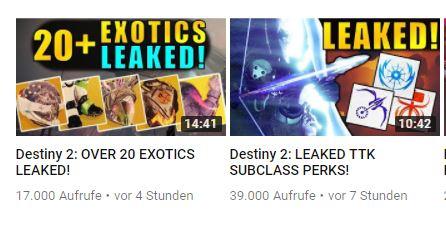Leak Destiny 2