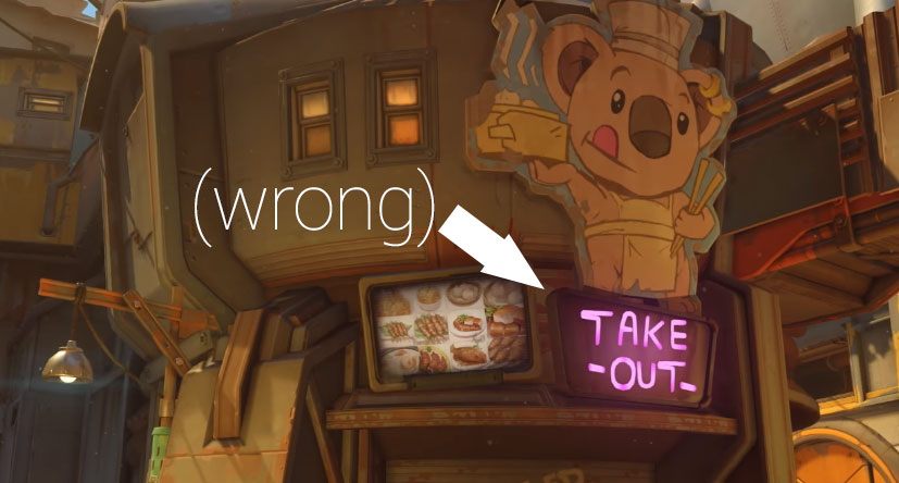 Overwatch Junkertown Imbiss wrong