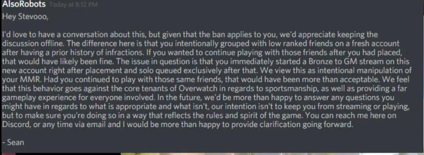 Overwatch Stevoo Bann