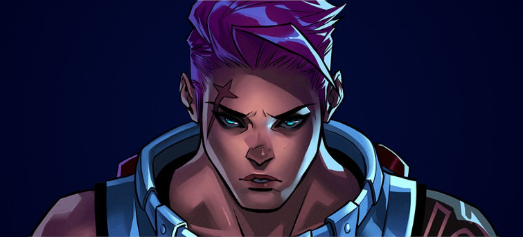 Overwatch Zarya Comic Face