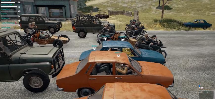 Death Race: Spieler veranstalten Todesrennen in PUBG – mit Knarren!