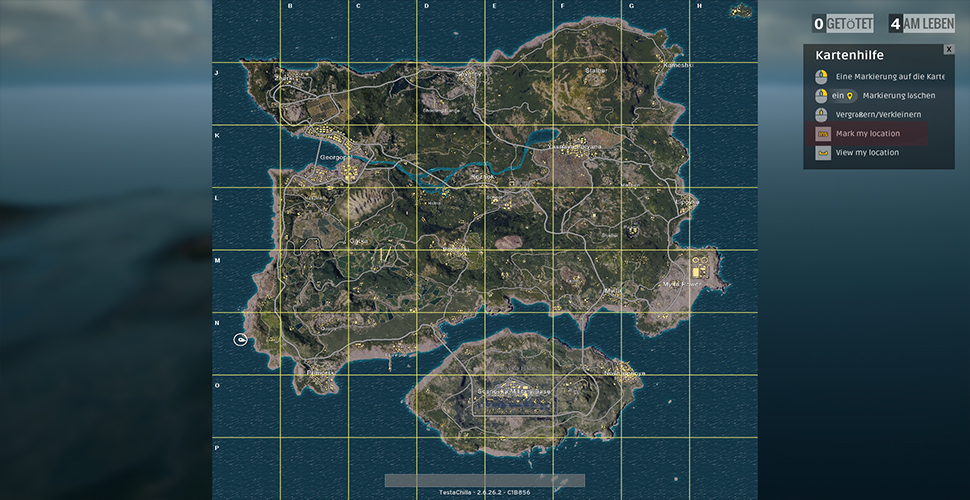 PUBG Marker World Map