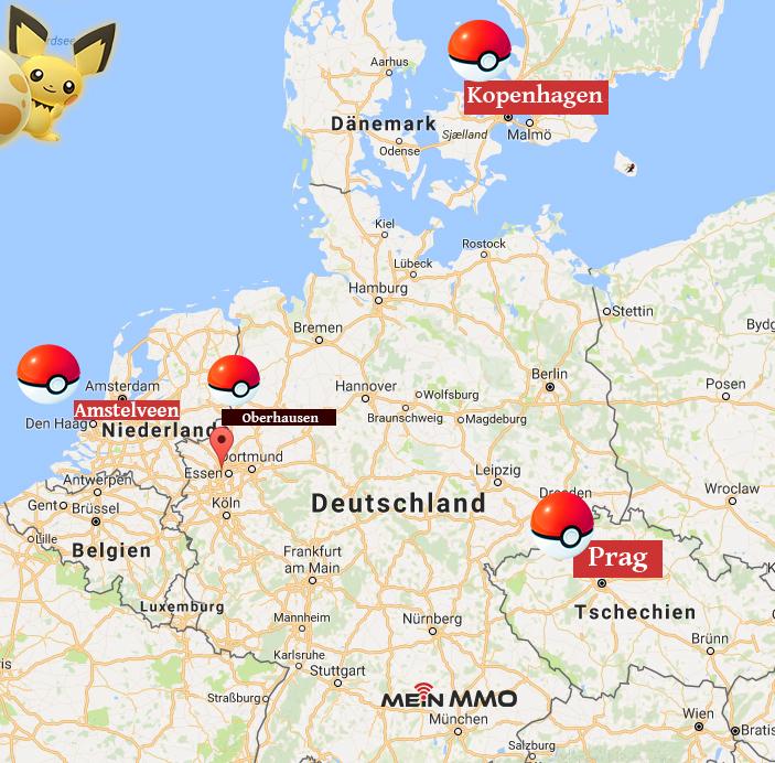Pokémon GO Europa Safari Zonen