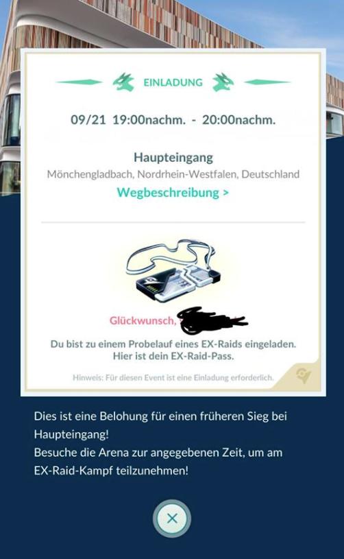 Pokémon GO Mewtu Einladung
