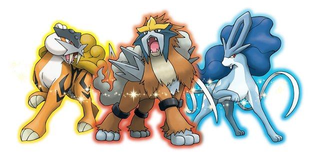 Pokémon GO Entei Raikou Suicune