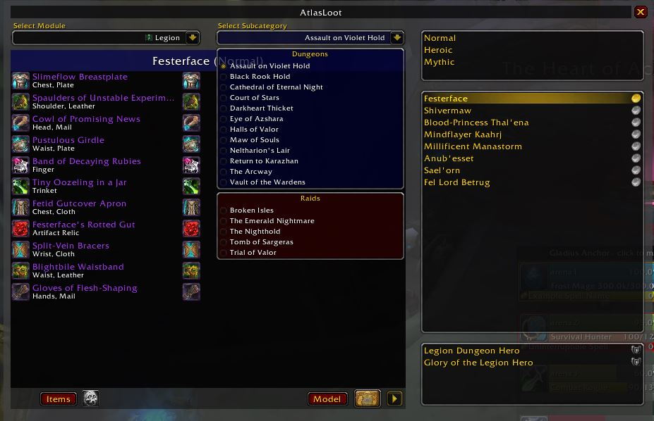 World of Warcraft Addons Atlas Loot