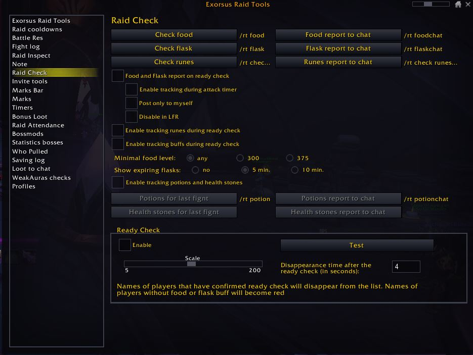 World of Warcraft Addons Exorsus Raid Tools