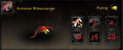 World of Warcraft Argus Pet Antorian Bilescourge