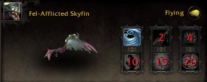 World of Warcraft Argus Pet Fel-Afflicted Skyfin