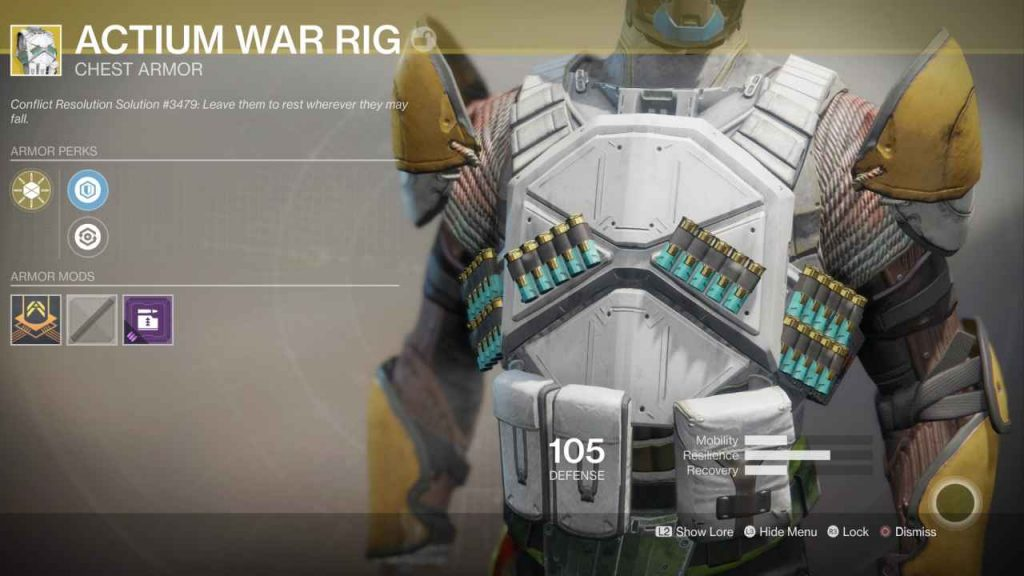 destiny 2 exotic actium war rig 2