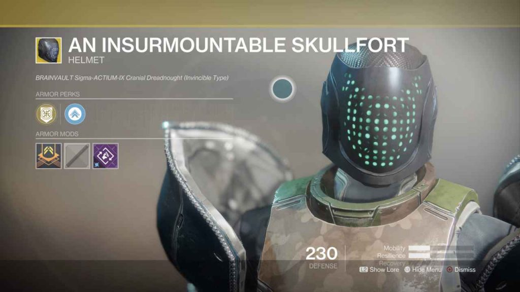 destiny 2 exotic an insurmountable skullfort