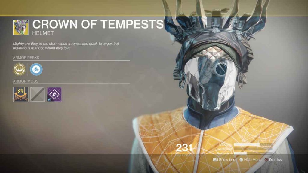 destiny 2 exotic crown of tempests