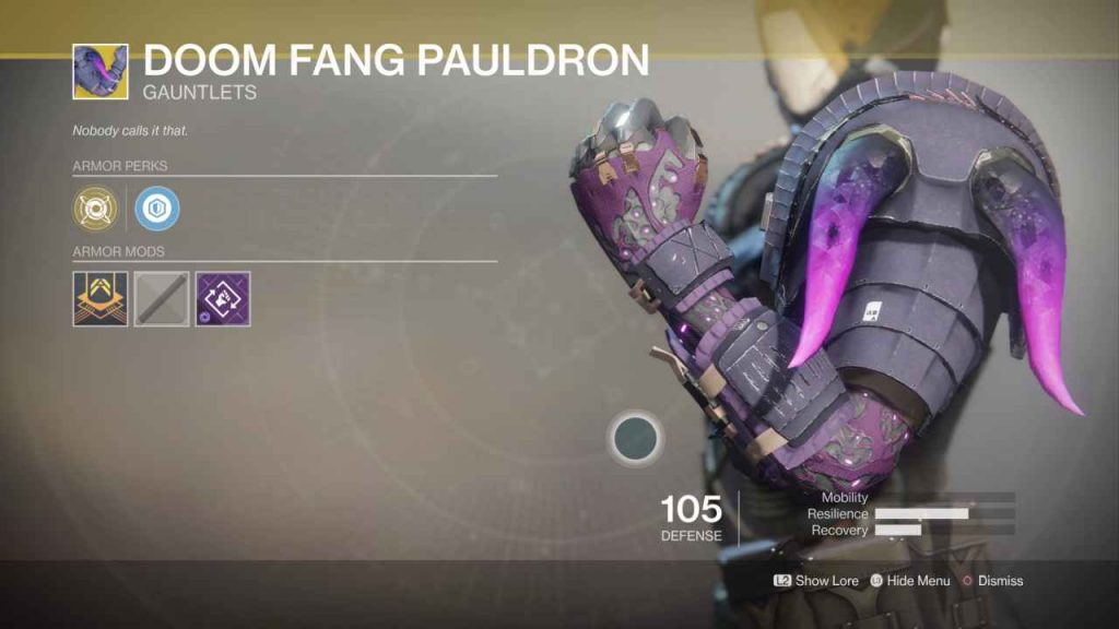 destiny 2 exotic doom fang pauldron 2