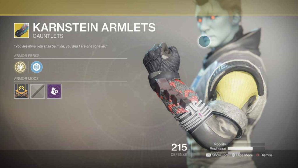 destiny 2 exotic karnstein armelts