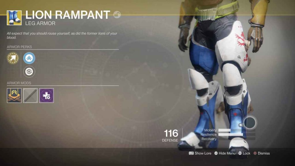 destiny 2 exotic lion rampant